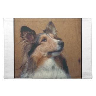 Perro Placemat del perro pastor de Shetland Manteles Individuales