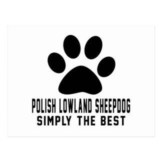 Perro polaco de la tierra baja simplemente el postal