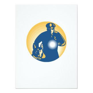 Perro policía del policía del guardia de seguridad invitación