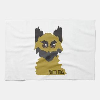 Perro policía toallas