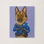 Perro policía rompecabezas
