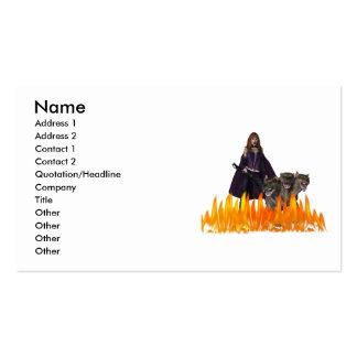 Perro principal del vampiro tres femeninos tarjetas de visita