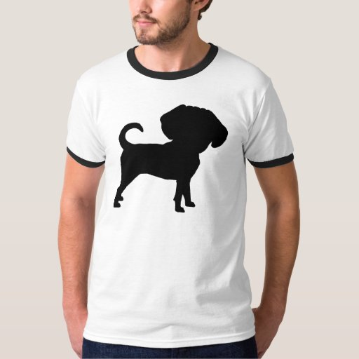 Perro principal grande lindo divertido de Puggle Playera