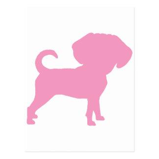 Perro principal grande lindo divertido de Puggle Postales