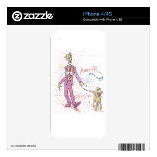 Perro que camina del zombi calcomanía para iPhone 4