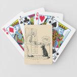 Perro que consigue más viejo baraja cartas de poker
