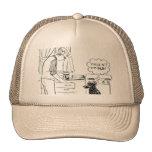 Perro que consigue más viejo gorras de camionero