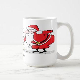 Perro que consigue un presente de Santa Taza De Café