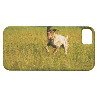 Perro que corre a través de hierba iPhone 5 Case-Mate cobertura