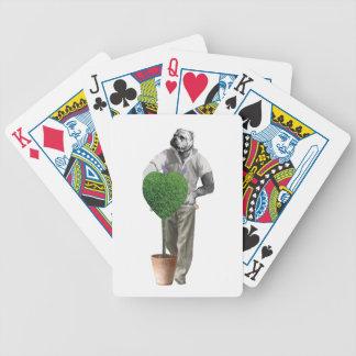 Perro que cultiva un huerto del vintage baraja de cartas