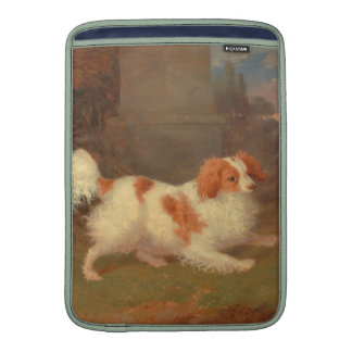 perro que pinta el perro de aguas de Blenheim Funda Para Macbook Air