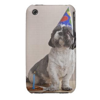 Perro que tiene cumpleaños iPhone 3 Case-Mate coberturas