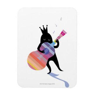 Perro que toca la guitarra iman flexible