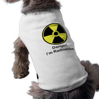 Perro radiactivo playera sin mangas para perro