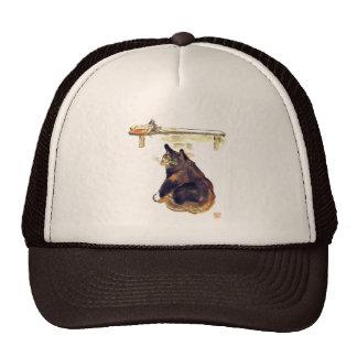Perro ratonero ocioso - un gato nombrado Terrance Gorras De Camionero