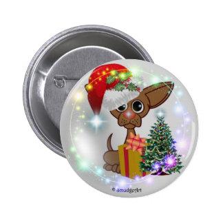 Perro ratonil pin redondo 5 cm