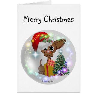Perro ratonil tarjeta de felicitación