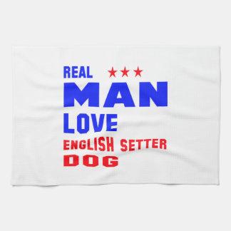 Perro real del organismo inglés del amor del toallas de cocina