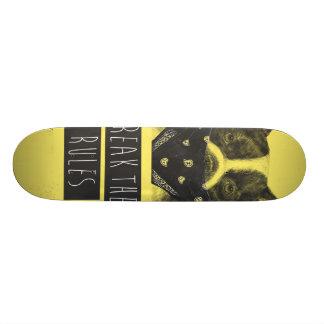 Perro rebelde (amarillo) tablas de patinar