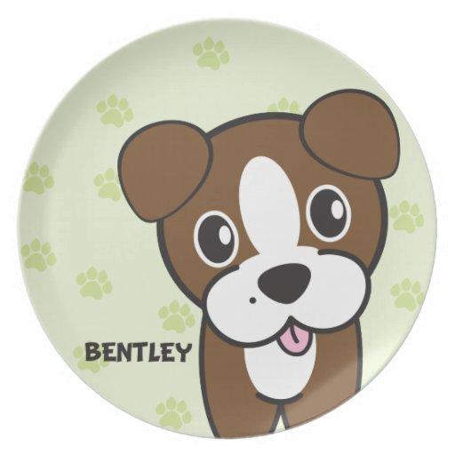 Perro Rockets Cartoons™ - Bentley Plato De Comida