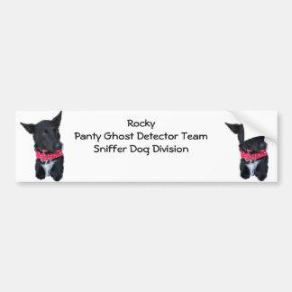 Perro rocoso - equipo del detector del fantasma de etiqueta de parachoque