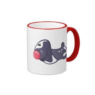 Perro rojo de la nariz tazas de café