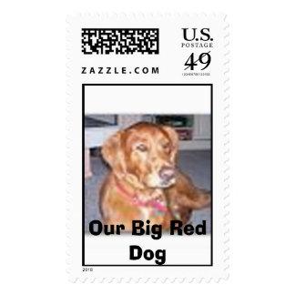 Perro rojo grande, nuestro perro rojo grande sellos