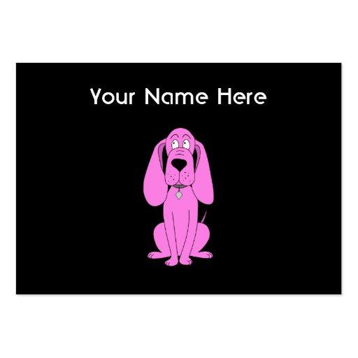 Perro rosado brillante. Historieta del perro Plantilla De Tarjeta Personal