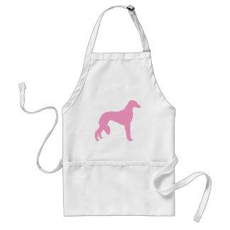 Perro rosado de Saluki Delantal