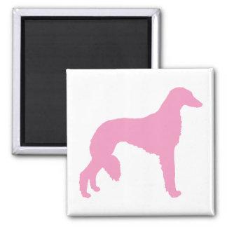 Perro rosado de Saluki Imán Cuadrado