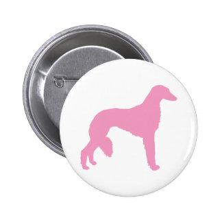 Perro rosado de Saluki Pin Redondo 5 Cm