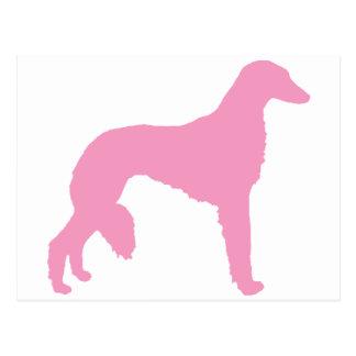 Perro rosado de Saluki Tarjetas Postales