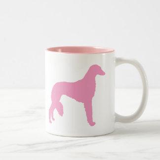 Perro rosado de Saluki Taza Dos Tonos
