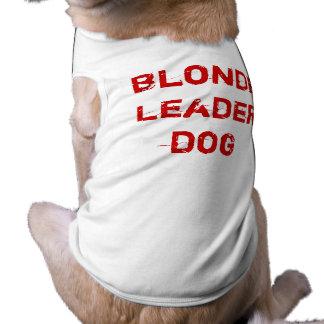 Perro rubio del líder playera sin mangas para perro