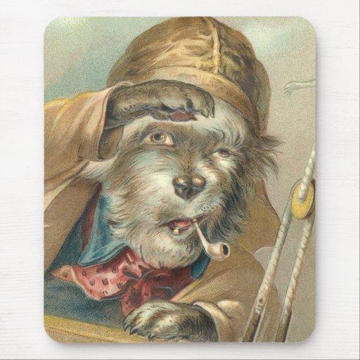 Perro salado del vintage divertido tapete de raton