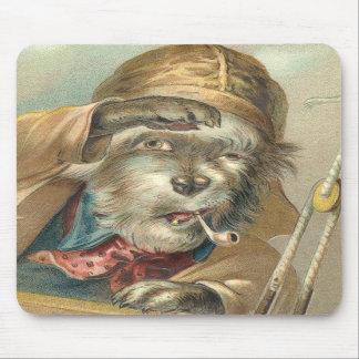 Perro salado del vintage divertido tapete de ratones