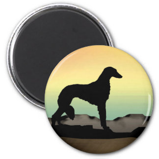 Perro Saluki del desierto Imán Redondo 5 Cm
