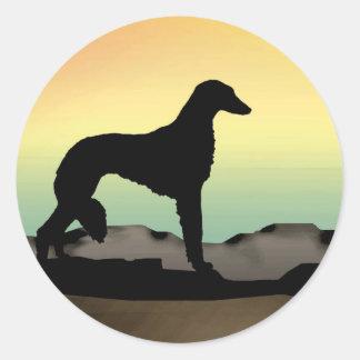 Perro Saluki del desierto Pegatina Redonda