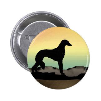 Perro Saluki del desierto Pin Redondo 5 Cm