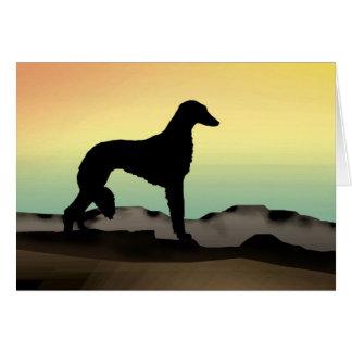 Perro Saluki del desierto Tarjeta De Felicitación