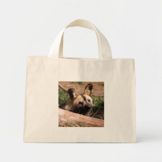 Perro salvaje africano bolsas lienzo