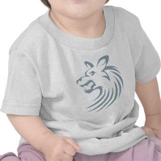 Perro salvaje africano en estilo del dibujo del ch camiseta
