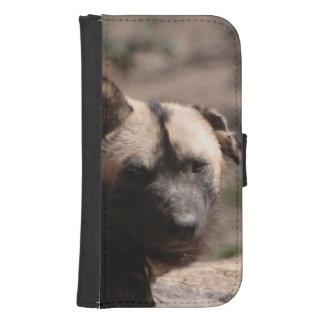 Perro salvaje africano fundas tipo billetera para galaxy s4