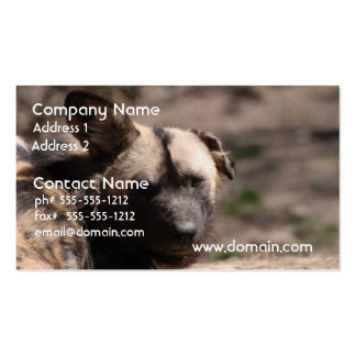Perro salvaje con el oído flojo tarjetas de visita