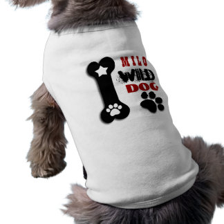 PERRO SALVAJE con la pata y la estrella V03 del Camisa De Perrito