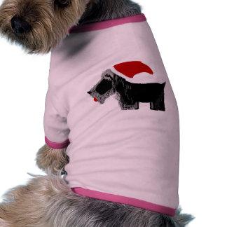 ¡Perro Santa del escocés! Camisetas De Mascota