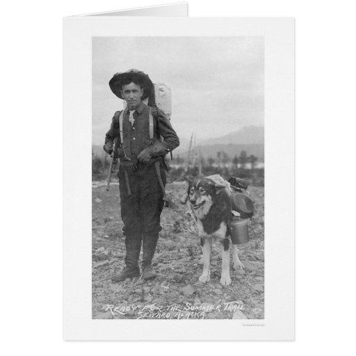 Perro Seward, Alaska 1904 del prospector Tarjetas