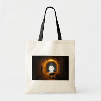 perro silueteado túnel bolsa tela barata