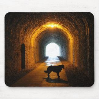 perro silueteado túnel tapetes de ratones