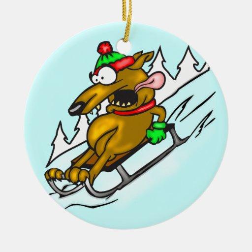 Perro Sledding de la nieve Ornatos